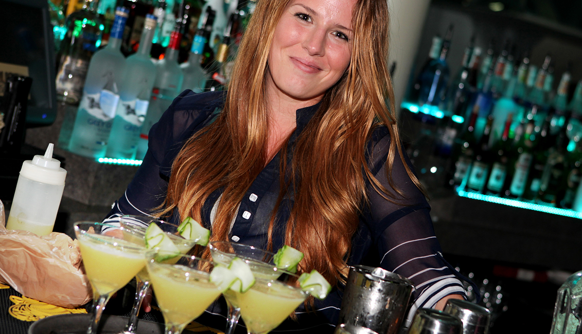 Smiling Bartender With Drinks Photo, Night Clubs, Baton Rouge, LA - The Penthouse Club