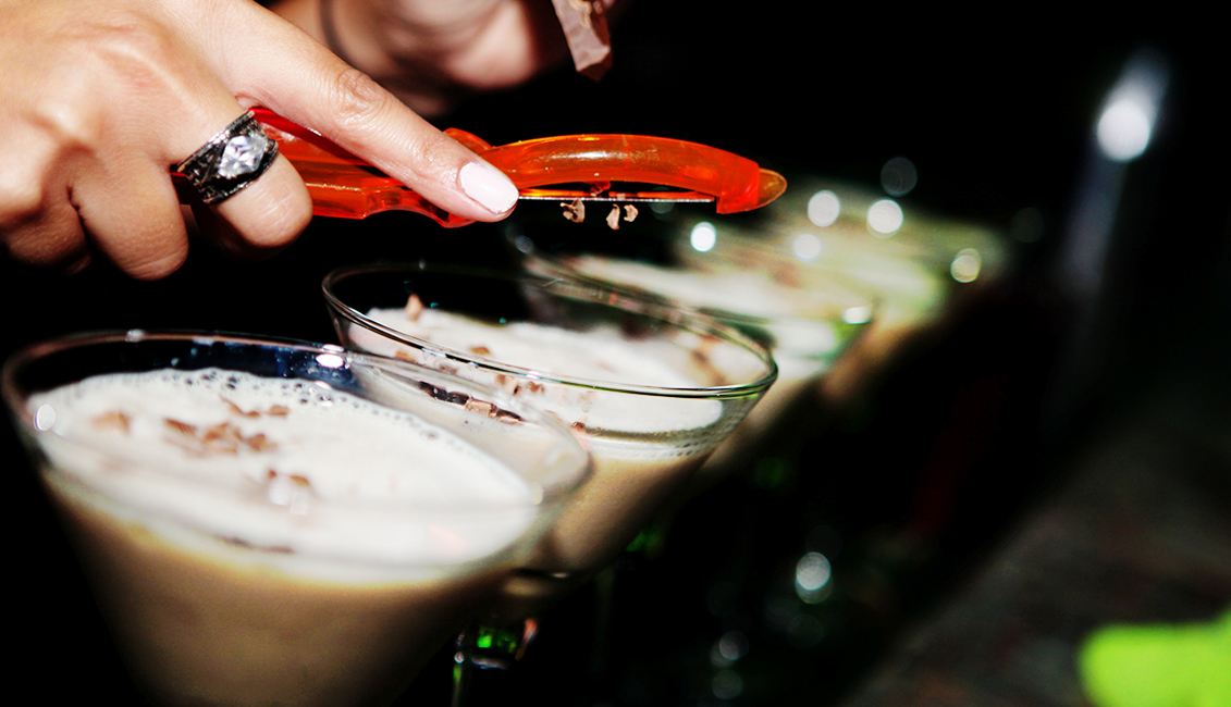 Chocolate Shaving On Drinks Photo, Night Clubs, Baton Rouge, LA - The Penthouse Club