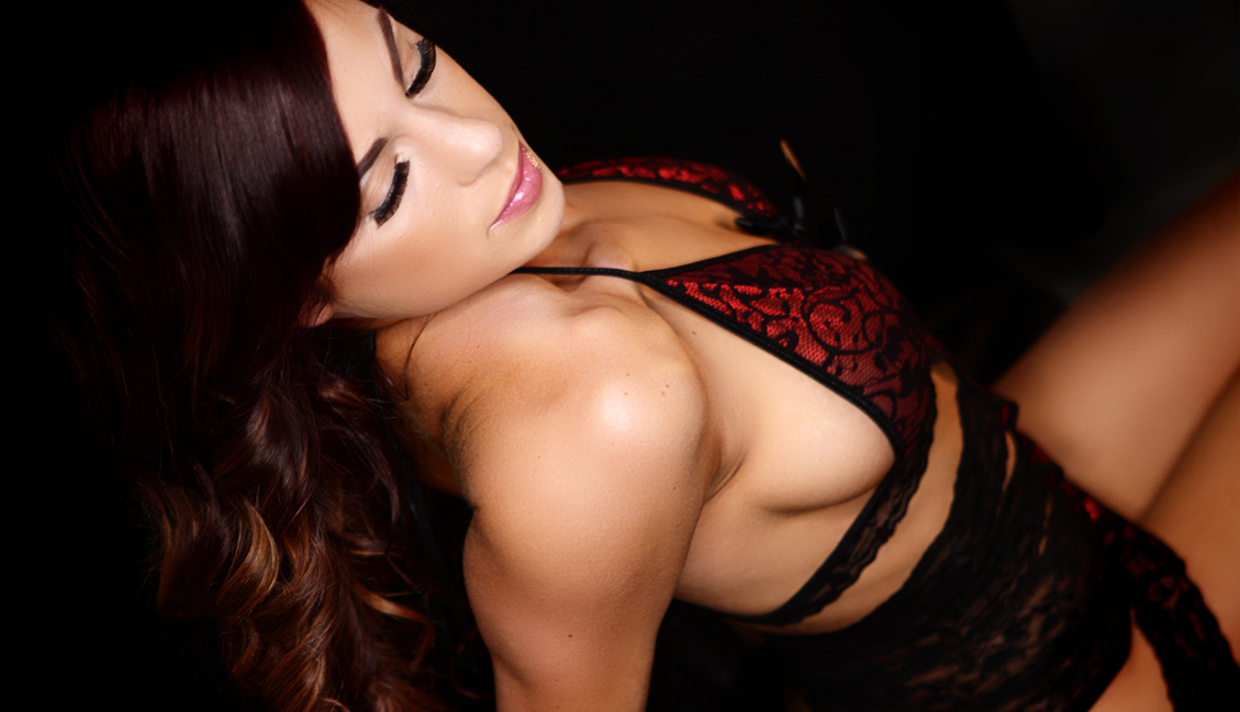 Seductive Woman In Red Lingerie Photo, Clubs Baton Rouge - The Penthouse Club