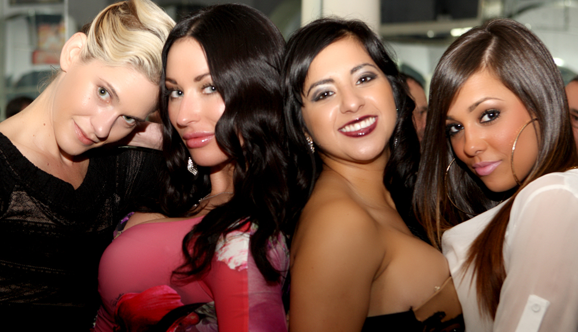 Four Beautiful Women In Sexy Outfits, Image Clubs Baton Rouge - The Penthouse Club