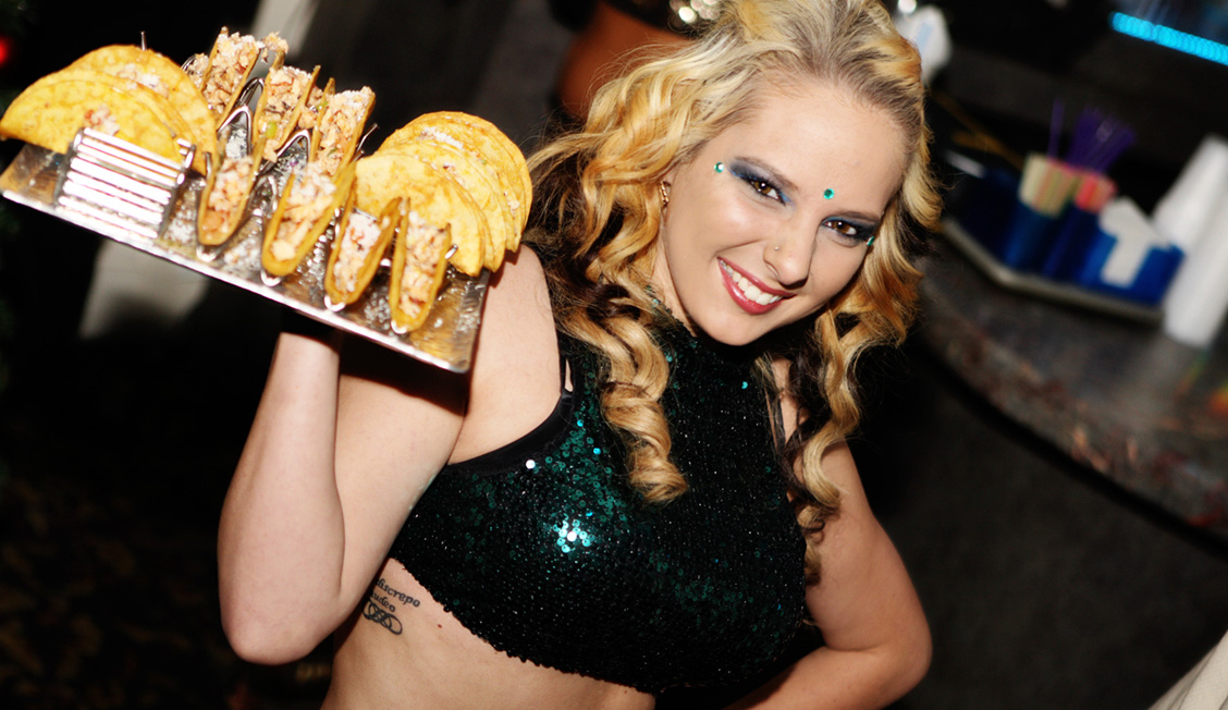 Waitress Serving Tacos At Night Clubs, Baton Rouge, LA Photo - The Penthouse Club