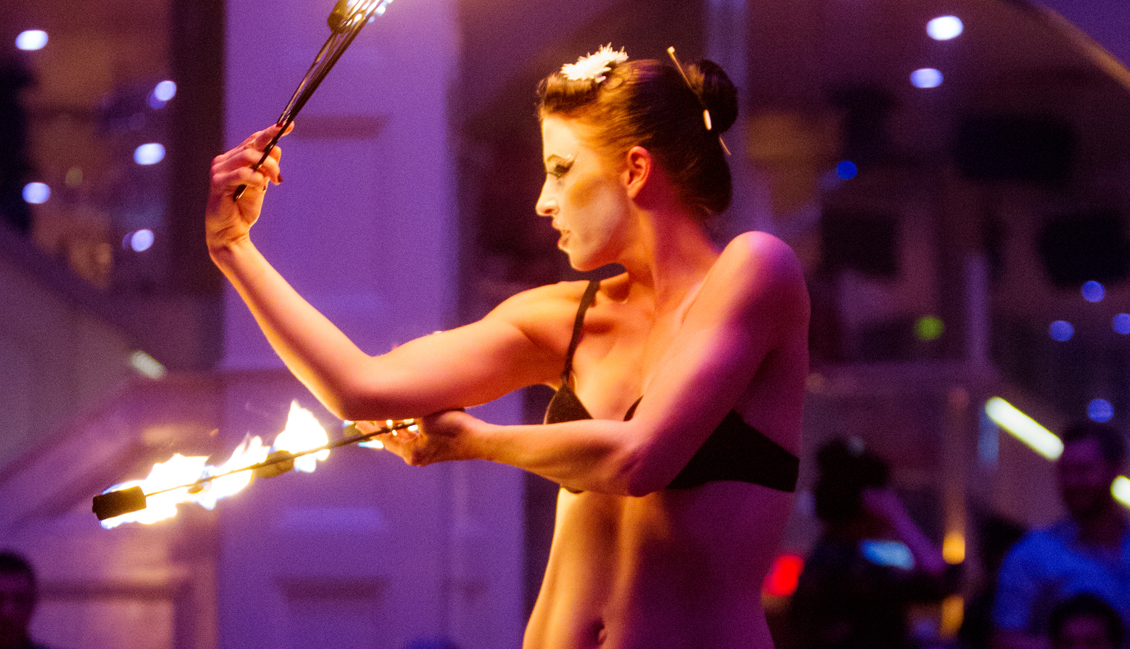 Baton Rouge Strippers With Fire Sticks Image - The Penthouse Club