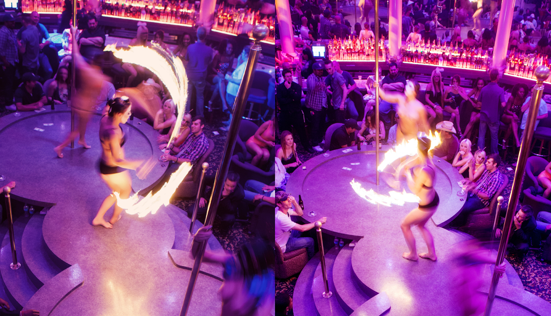 Baton Rouge Strip Clubs, Flaming Dance Show Photo - The Penthouse Club