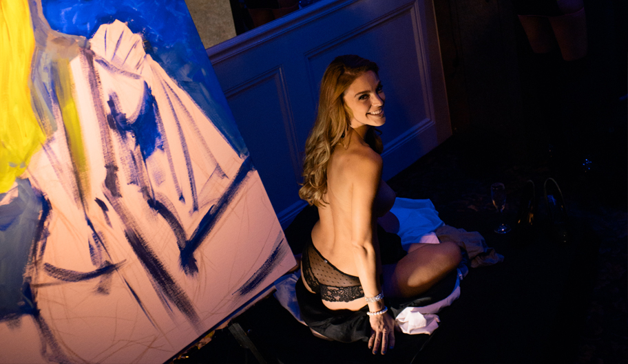 High Angle Photo Of Topless Model, Strip Clubs, Baton Rouge - The Penthouse Club