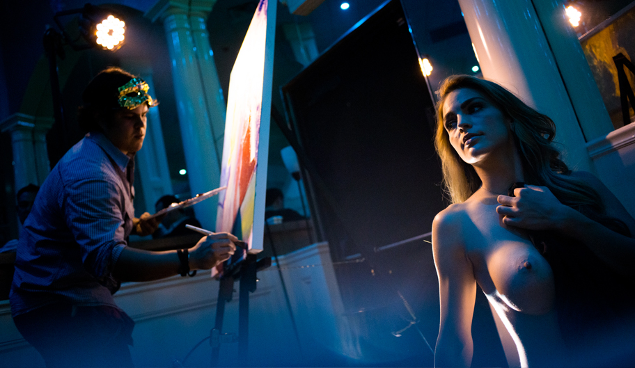 Picture Of Artist Painting Topless Model, Strip Clubs, Baton Rouge - The Penthouse Club