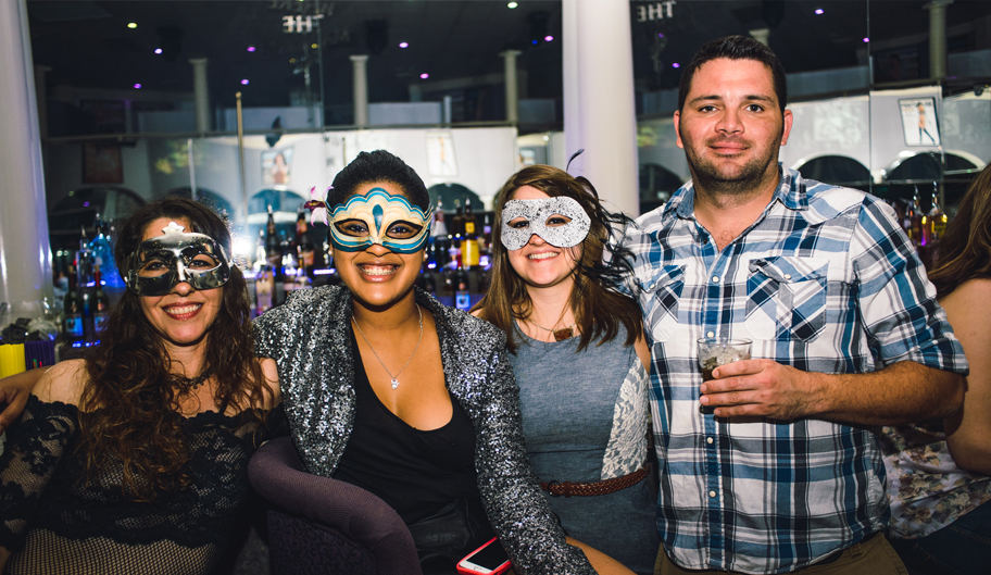 Guests Pictures Wearing Masks, Nightlife, Baton Rouge, LA - The Penthouse Club